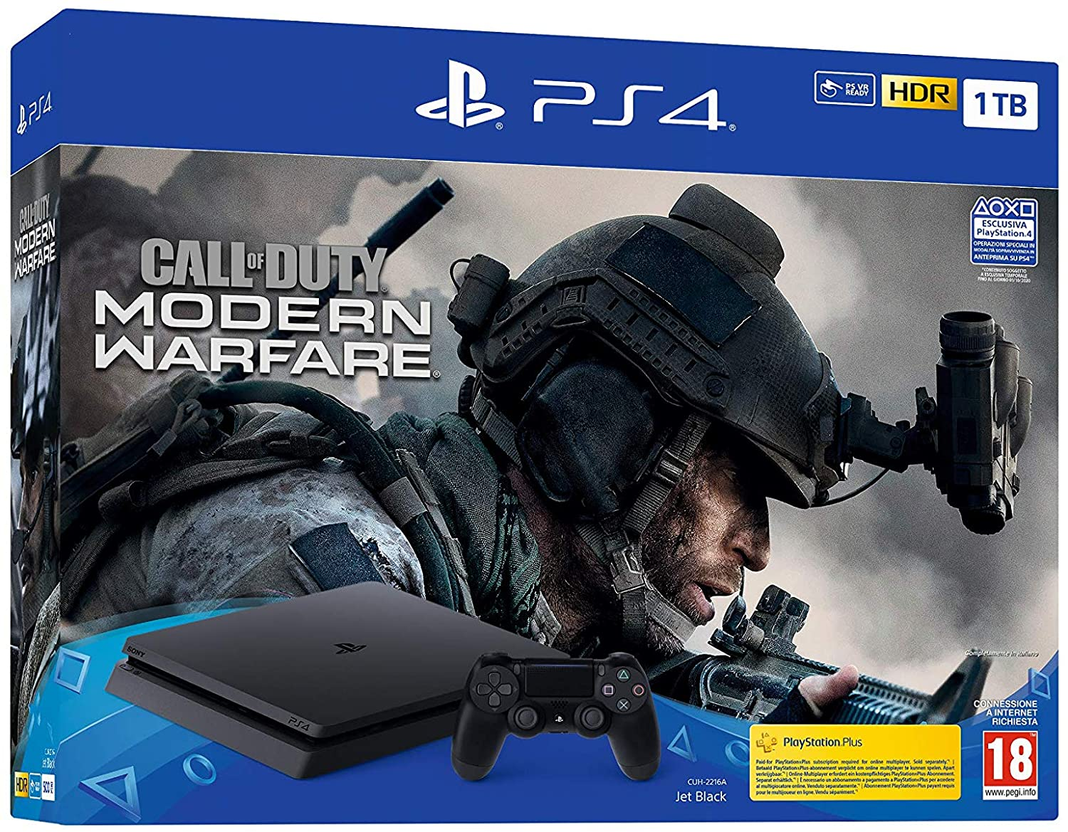PS4 SONY CONSOLE 1TB F CHASSIS + CALL OF DUTY MODERN WARFARE